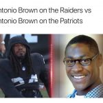 Antonio Brown at Raiders vs Patriots