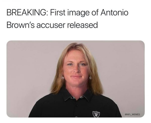 Antonio Brown's Accuser Meme