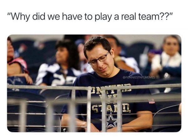 Cowboys Fans Sad