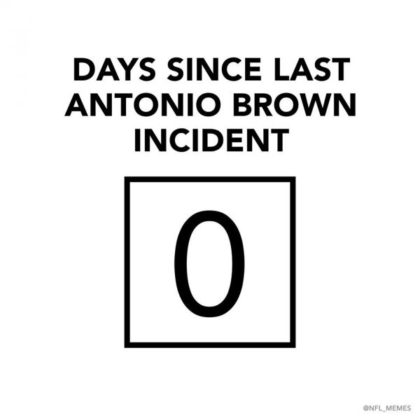 Days since last Antonio Brown Incident