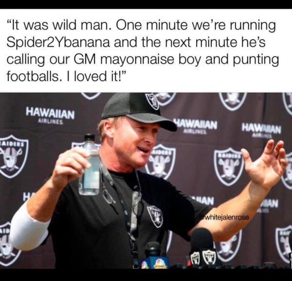 Jon Gruden Antonio Brown meme