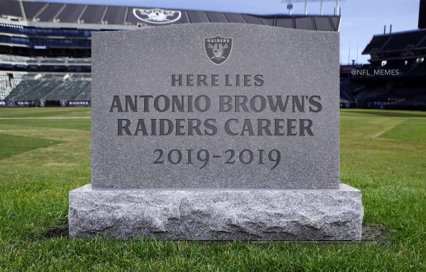 Antonio Brown Raiders Stats