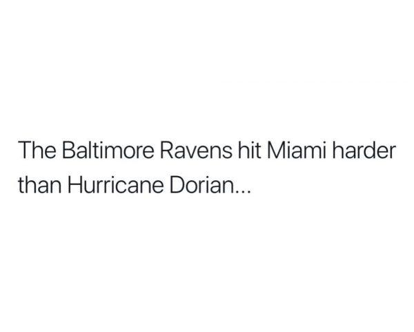 Ravens Miami Dorian