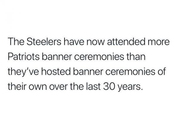 Steelers owned by the Patriots