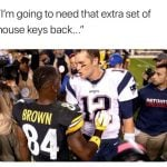 Tom Brady Antonio Brown HOuse Keys