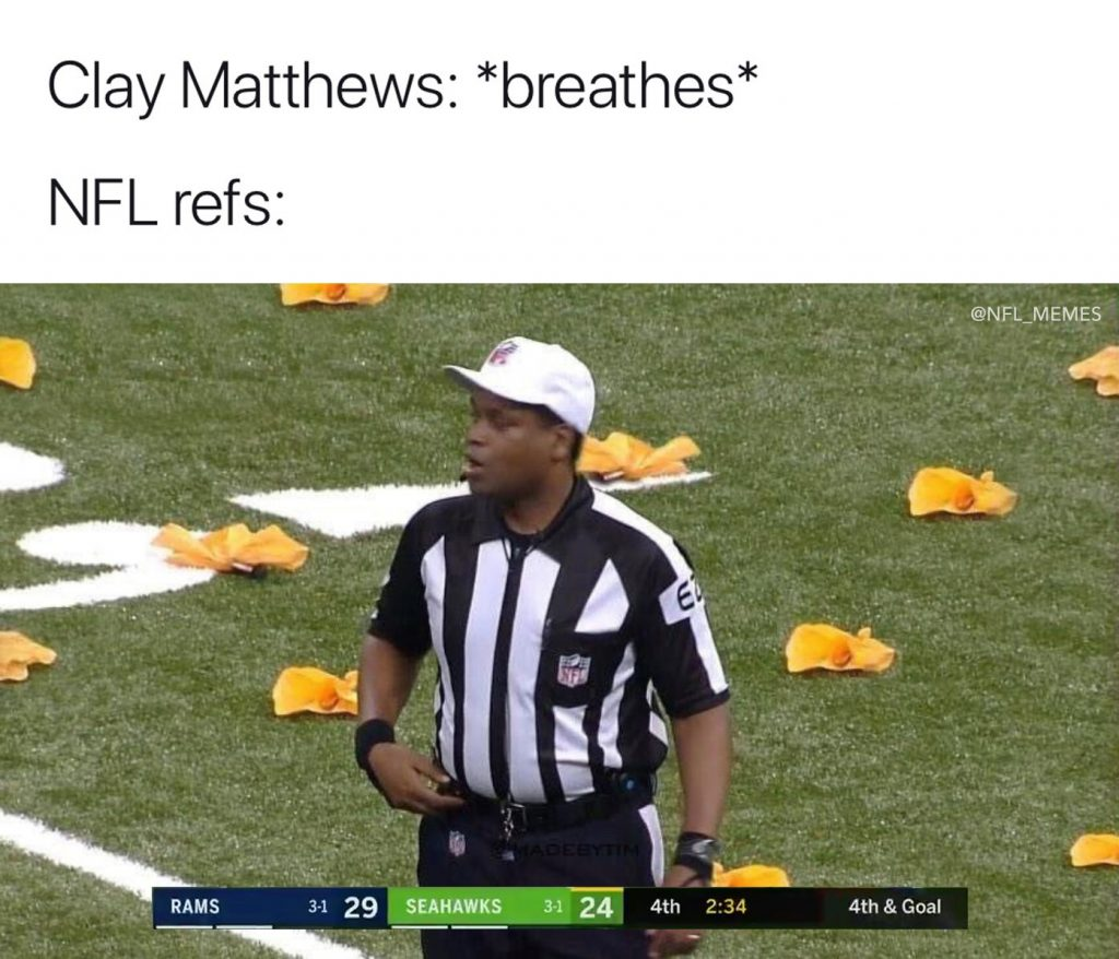 Clay Matthews Breaths Meme