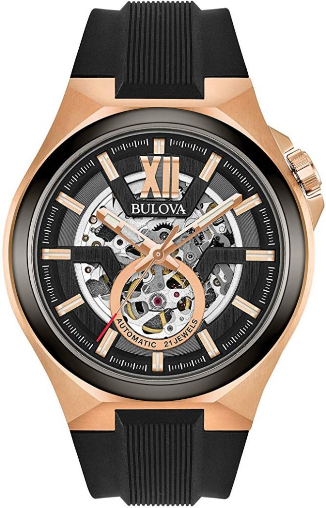 Bulova Mens Stainless Steel Automatic-self-Wind Watch