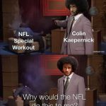 Colin Kaepernick doing own workout