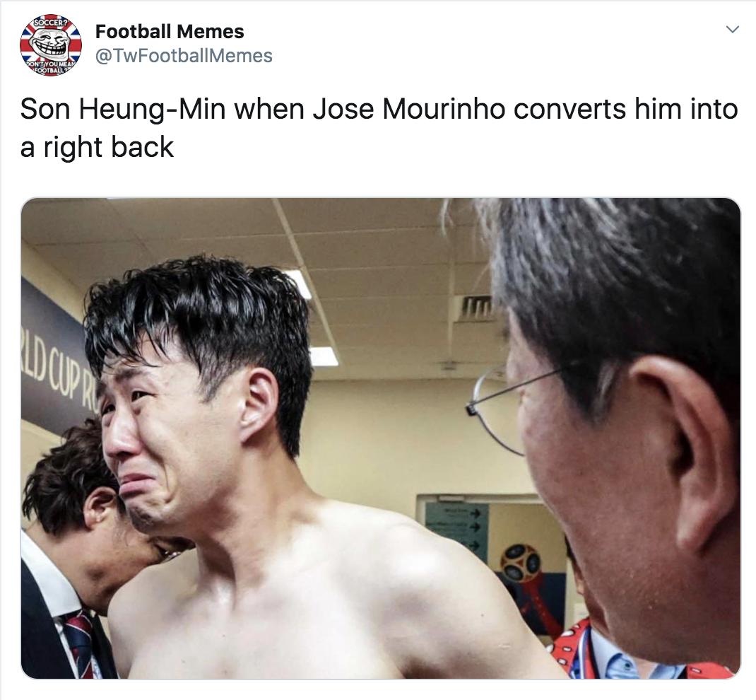 Jose-mourinho-son-heung-min-funny-meme - Sportige