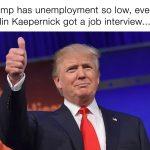 Kaepernick has a job interview