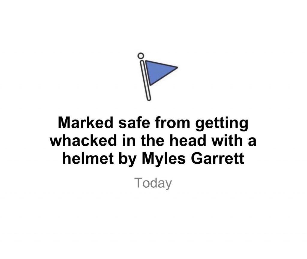 Marked Safe from Myles Garrett
