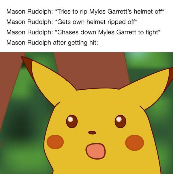 Mason Rudolph Pikachu Face