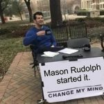 Mason Rudolph Started It