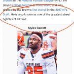 Myles Garrett Wiki Page