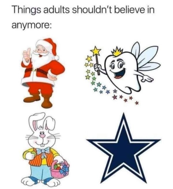 No faith in the Cowboys