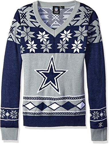 NFL Women's V-Neck Sweater, Dallas Cowboys