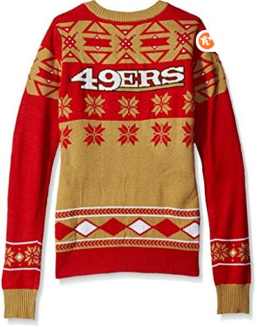 NFL Women's V-Neck Sweater, San Francisco 49ers