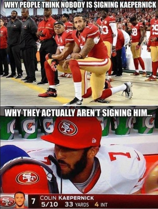 Rooting against Kaepernick