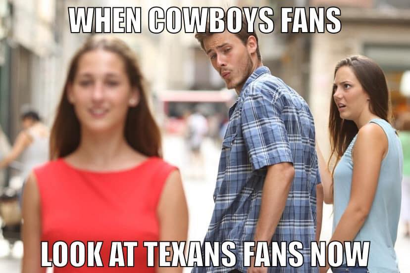 Cowboys Fans switching to Texans