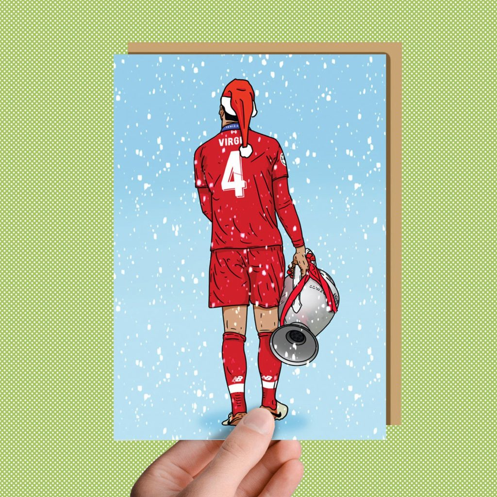 Virgil Van Dijk christmas card