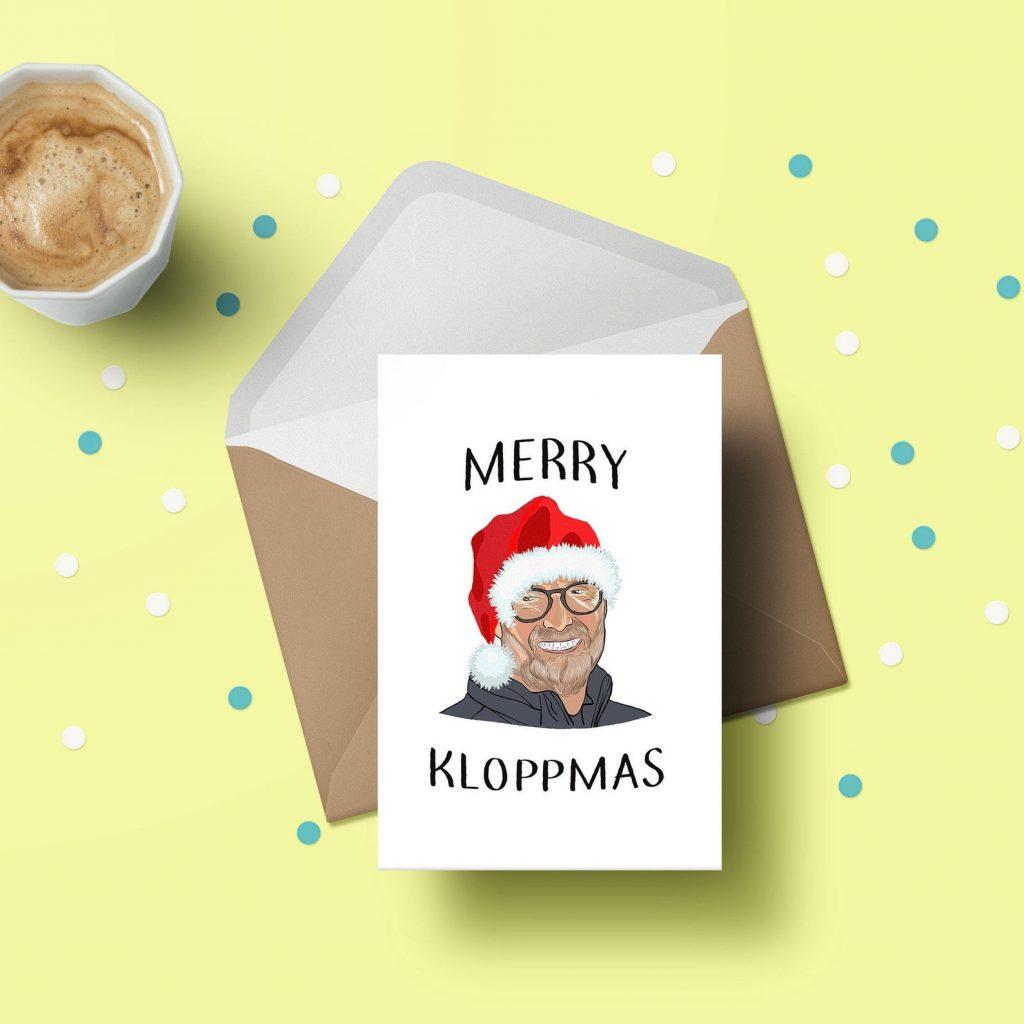funny liverpool fc christmas card jurgen klopp
