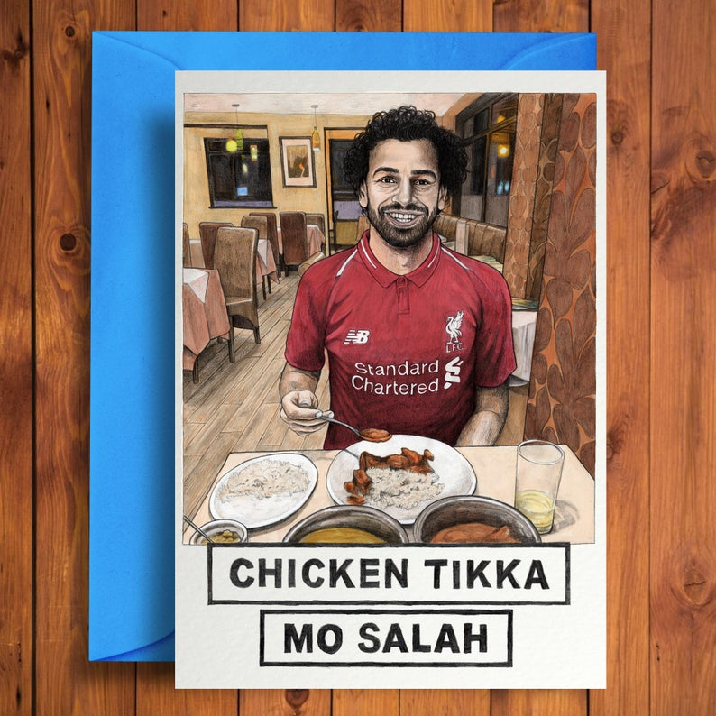 mo salah greeting card