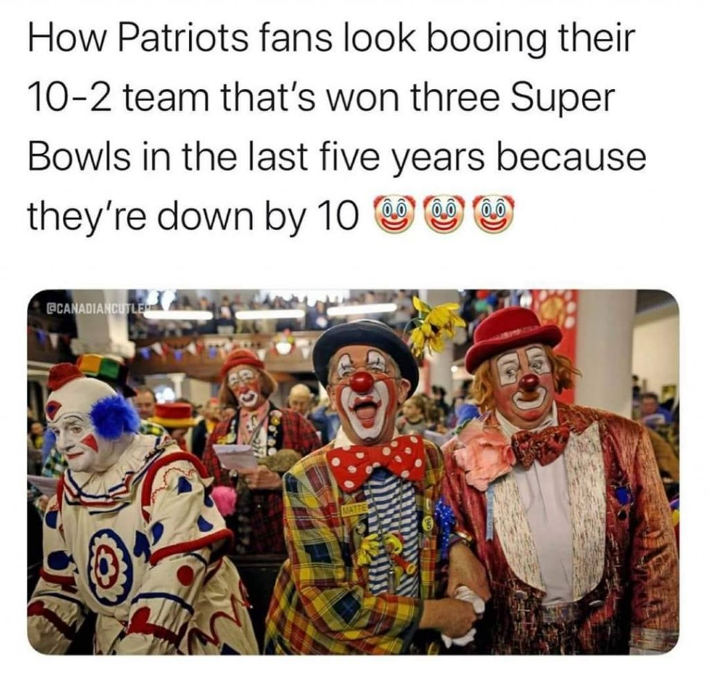 patriots crying like clowns meme