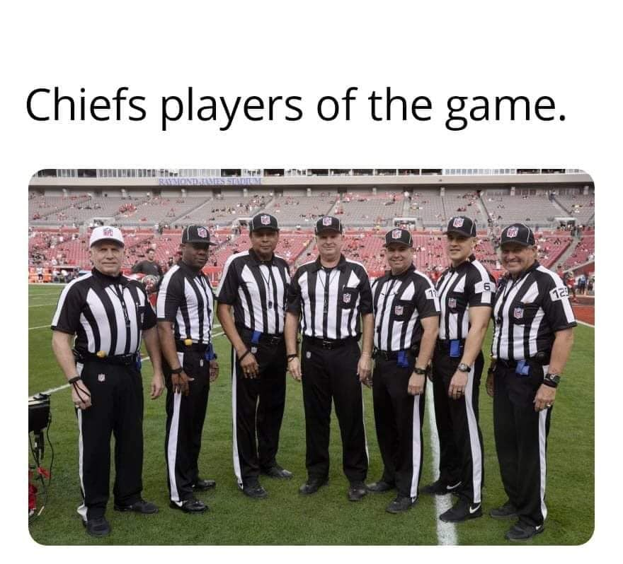 refs helped the chiefs meme