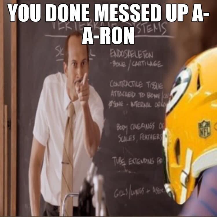 Aaron Rodgers Meme