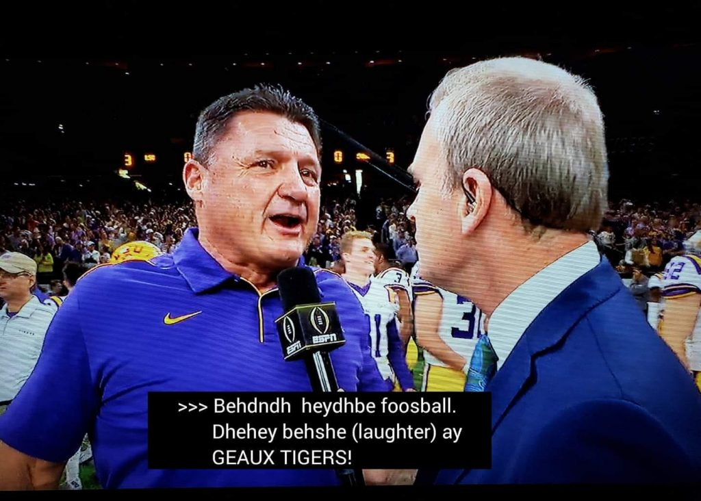 Can't Understand Orgeron