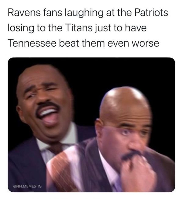 Ravens fans not laughing anymore