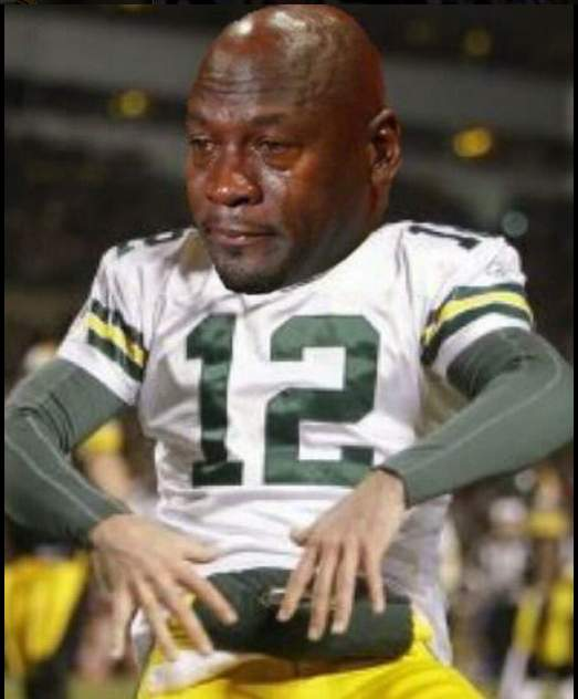 Crying Jordan Aaron Rodgers  Meme
