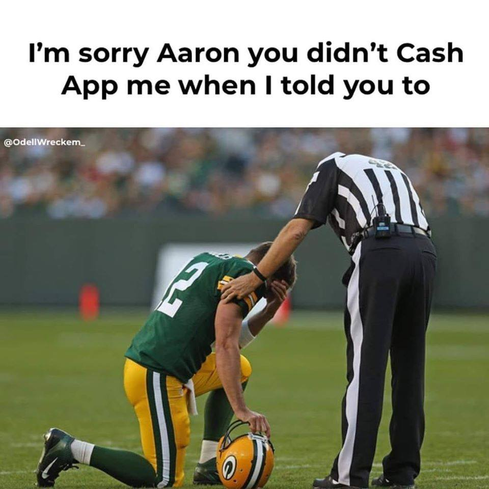 Aaron Rodgers funny referee meme