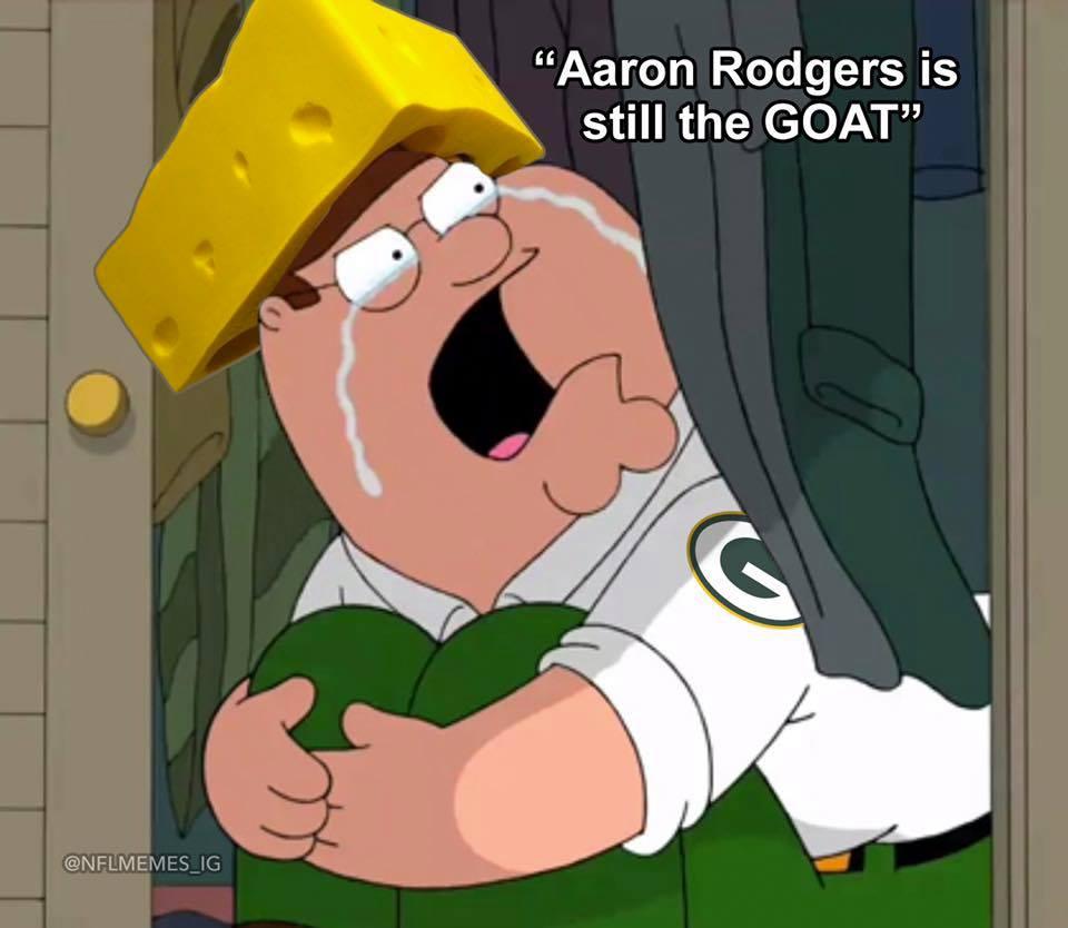 Aaron Rodgers GOAT MEME