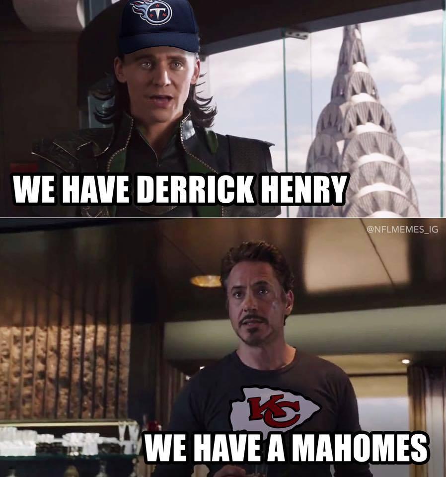 derrick henry vs mahomes meme