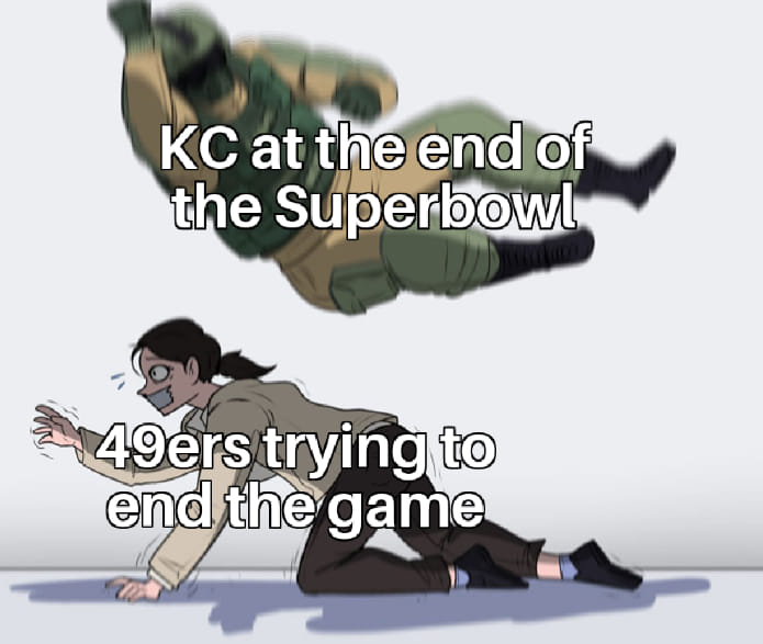 49ERS losing the lead against KC in Superbowl 2020 meme
