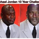 Crying Jordan 10 year challenge