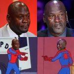 Crying Jordan Memes Spider-man