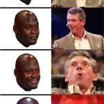 Crying Jordan Vince McMahon Meme