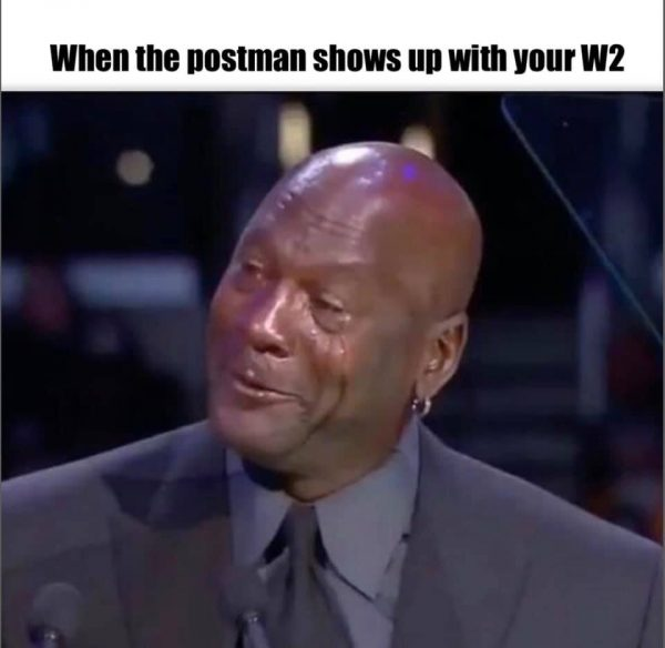 Crying Jordan W2 Meme