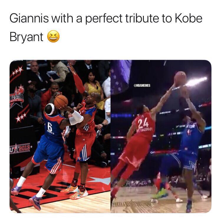 Giannis Kobe Tribute meme