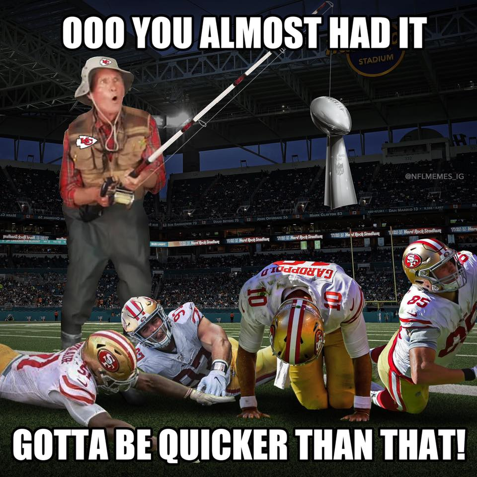 KC winning against the 49ers meme