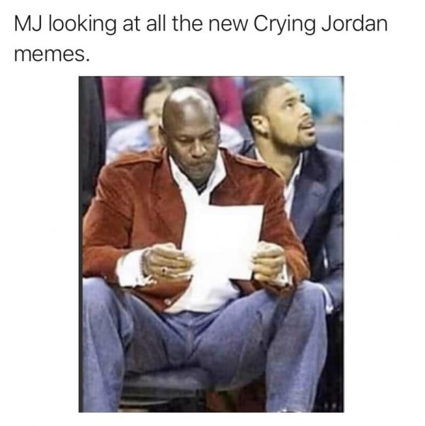 MJ Looking at Crying Jordan Memes