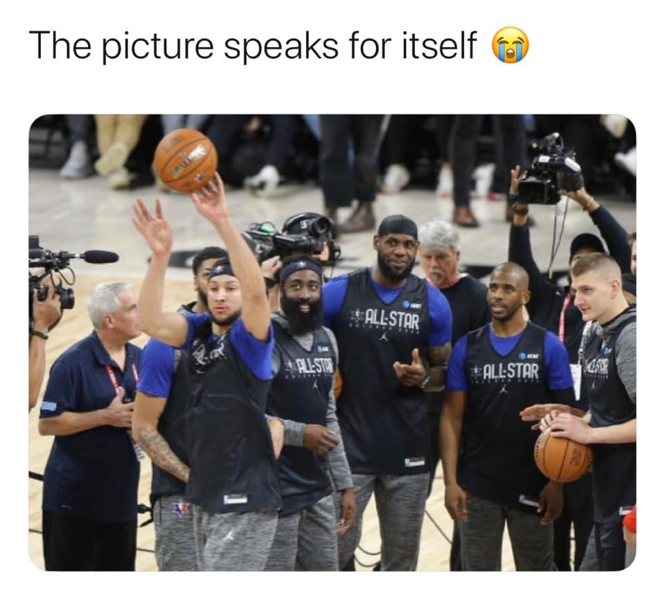 Ben Simmons can't shot funny meme