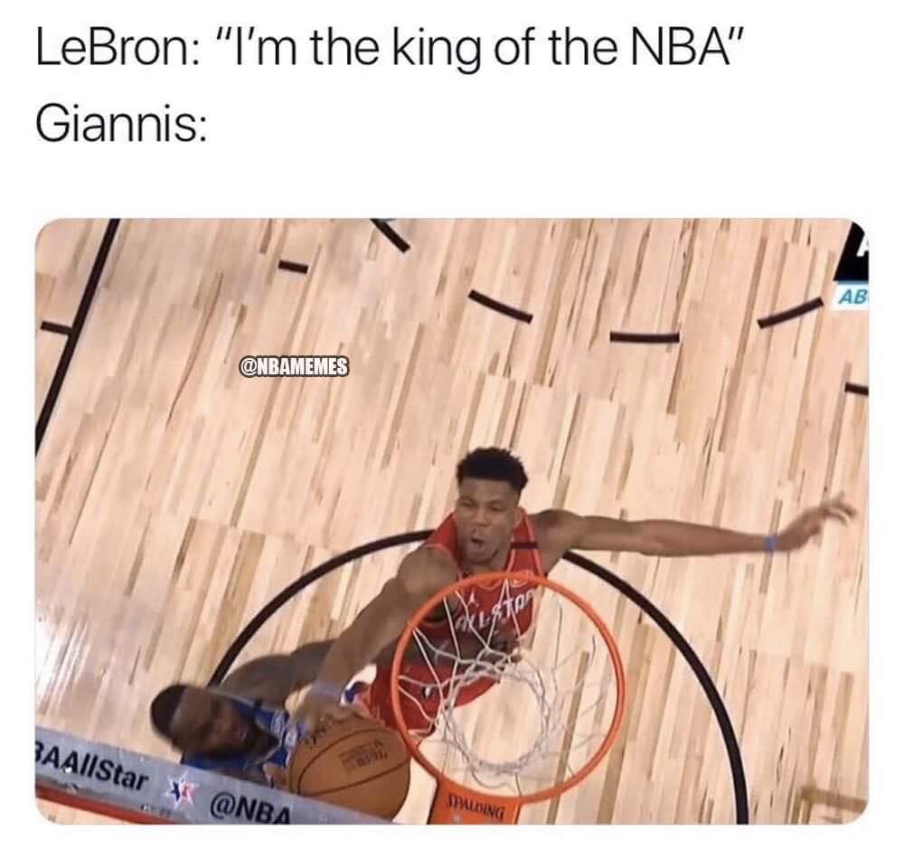 LeBron vs Giannis meme