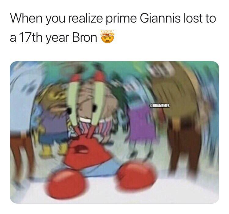 Giannis lost to LeBron meme