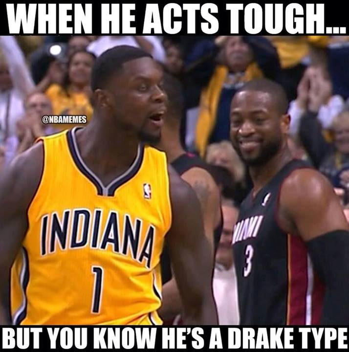 Lance Stephenson acting tough