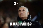 Mourinho blowing bubbles