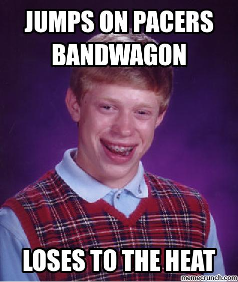 Bad luck Pacers fan