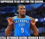 Serge Ibaka is back before Derrick Rose